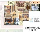 El_Shorouk City - 3 Bedroom Apartment in Cairo 115 m² for sale