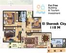 El_Shorouk City - 3 Bedroom Apartment 118 m² in El Shorouk City in Egypt