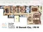 El_Shorouk City - 4 Bedroom Apartment 190 m² for sale in El Shorouk City
