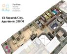 El_Shorouk City - 4 Bedroom Apartment 208 m² for sale in El Shorouk